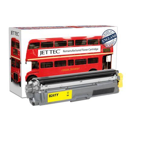 JET TEC Remanufactured Laser Toner Cartridge Replaces Brother TN241Y