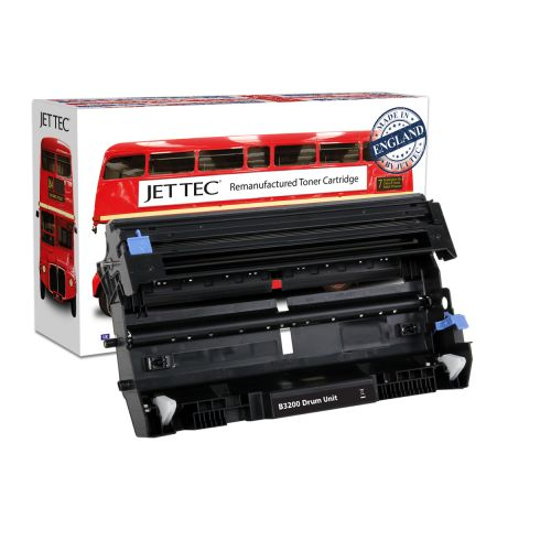 JET TEC Remanufactured Drum Unit Replaces Brother DR3200 Black
