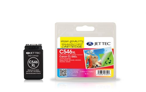 JET TEC Remanufactured Inkjet Cartridge Replaces Canon CL - 546 XL Colour Pack Canon 8288B001