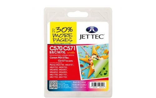 JET TEC Remanufactured Inkjet Cartridge Replaces Canon PGI-570XL/CL-571XL