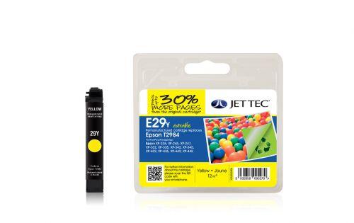 JET TEC Remanufactured Inkjet Cartridge Replaces Epson T2984 Yellow