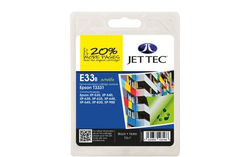 JET TEC Remanufactured Inkjet Cartridge Replaces Epson T3331 Black