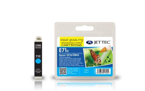 JET TEC Remanufactured Inkjet Cartridge Replaces Epson T0712 Cyan