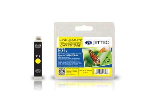 JET TEC Remanufactured Inkjet Cartridge Replaces Epson T0714 Yellow