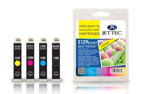 JET TEC Remanufactured Inkjet Cartridge Replaces Epson T1291/2/3/4 Black/Cyan/Magenta/Yellow Multipack
