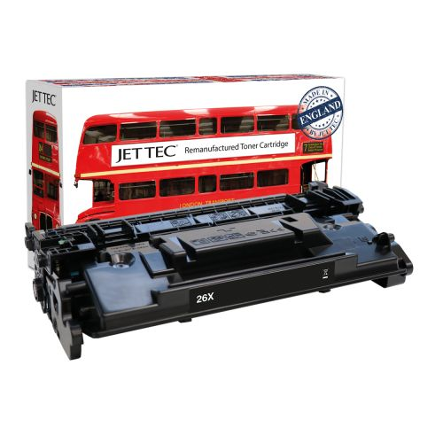 JET TEC Remanufactured HP 26X Laser Toner Cartridge Replaces HP CF226X