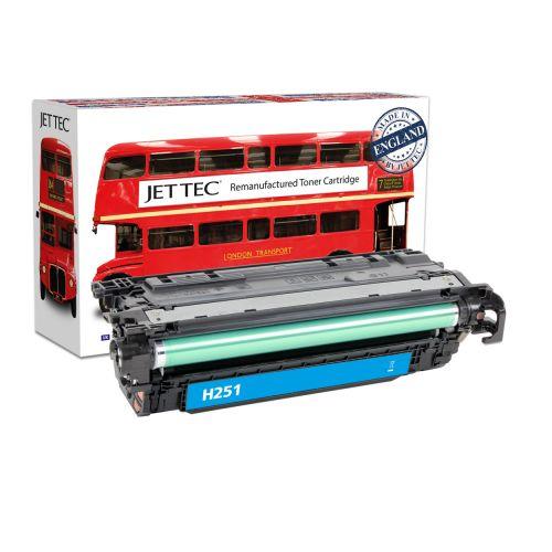 JET TEC Remanufactured HP 504A Laser Toner Cartridge Replaces HP CE251A/Canon 723C Cyan