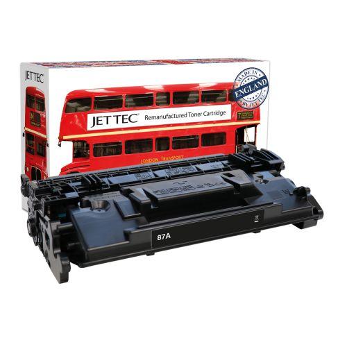 JET TEC Remanufactured HP 87A Laser Toner Cartridge Replaces HP CF287A Black