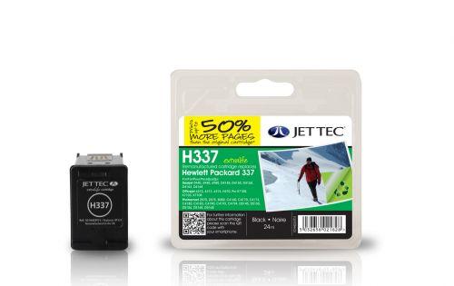 JET TEC Remanufactured Inkjet Cartridge Replaces HP 337 HP C9364EE Black