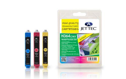JET TEC Remanufactured Inkjet Cartridge Replaces HP 364 Cyan/Magenta/Yellow Colour Pack