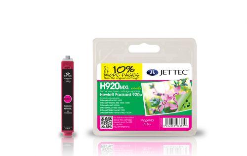 JET TEC Remanufactured Inkjet Cartridge Replaces HP 920XLHP CD973AE Magenta