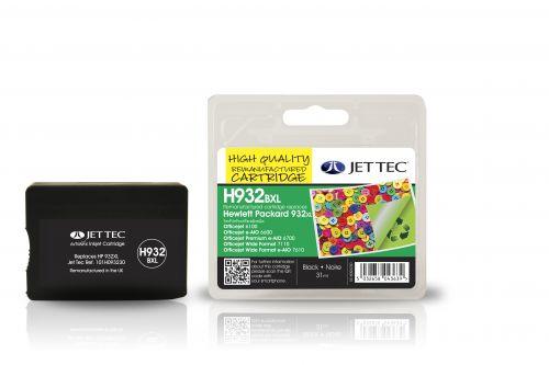 JET TEC Remanufactured Inkjet Cartridge Replaces HP 932XL HP CN053AE Black