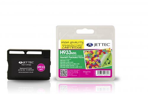 JET TEC Remanufactured Inkjet Cartridge Replaces HP 933XL HP CN055AE Magenta