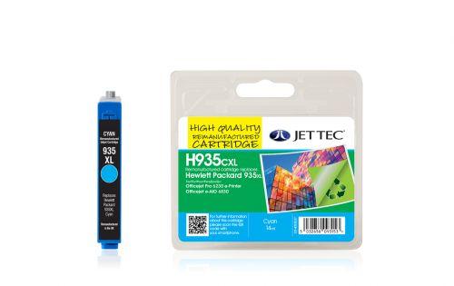JET TEC Remanufactured Inkjet Cartridge Replaces HP 935CXL HP C2P24AE