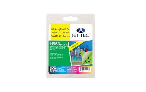 JET TEC Remanufactured Inkjet Cartridge Replaces HP 953XL Black/Cyan/Magenta/Yellow Multipack HP 3HZ52AE