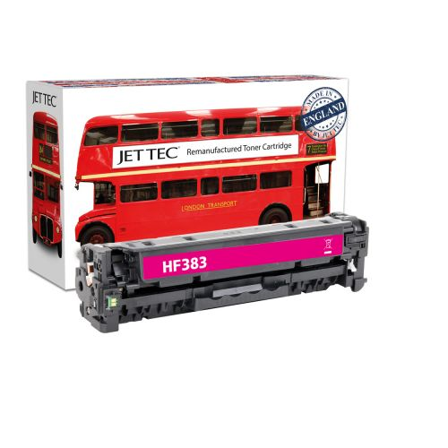 JET TEC Remanufactured HP 312A Laser Toner Cartridge Replaces HP CF383A Magenta