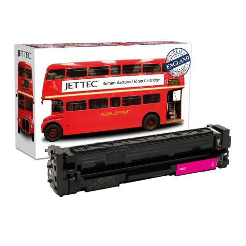 JET TEC Remanufactured HP 203X Laser Toner Cartridge Replaces HP CF543X Magenta High Capacity