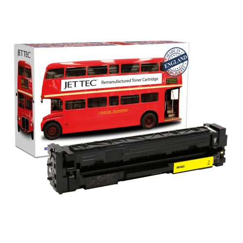JET TEC Remanufactured HP 201A Laser Toner Cartridge Replaces HP CF402A Yellow