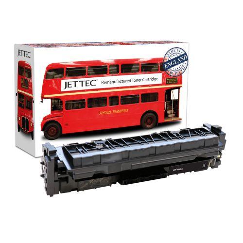JET TEC Remanufactured HP 410X Laser Toner Cartridge Replaces HP CF410X Black High Capacity