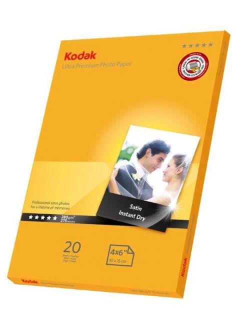 Kodak Ultra Premium Photo Paper Glass 6x4 280 - 20 Sheets