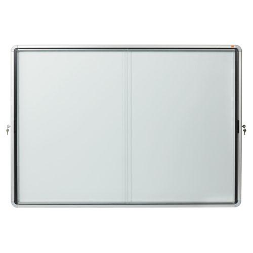 Nobo 1902571 Premium Plus Magnetic Lockable Notice Board 18xA4