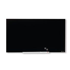 Nobo 1905179 Black Impression Pro Glass Magnetic Whiteboard 680x380mm