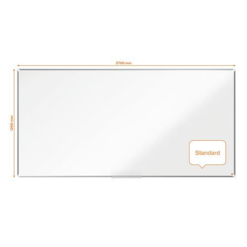 Nobo Premium Plus Steel Magnetic Whiteboard 2700x1200mm