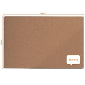 Nobo 1915184 Premium Plus Cork Notice Board 1800x1200mm