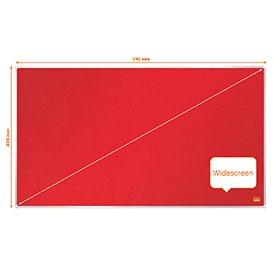 Nobo 1915419 Impression Pro 710x400mm Widescreen Red Felt Notice Board