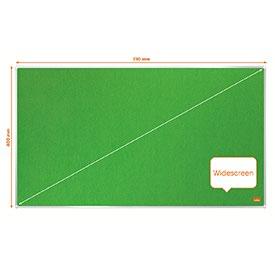 Nobo 1915424 Impression Pro 710x400mm Widescreen Green Felt Notice Board