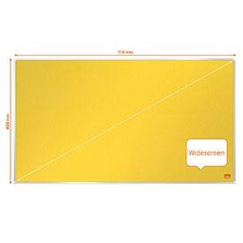 Nobo 1915429 Impression Pro 710x400mm Widescreen Yellow Felt Notice Board