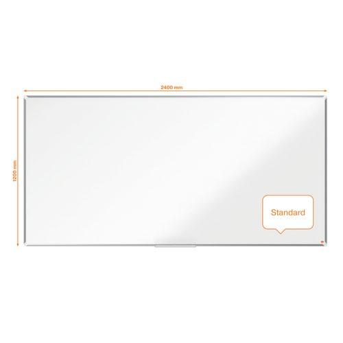 Nobo 1915454 Premium Plus Melamine Whiteboard 2400x1200mm