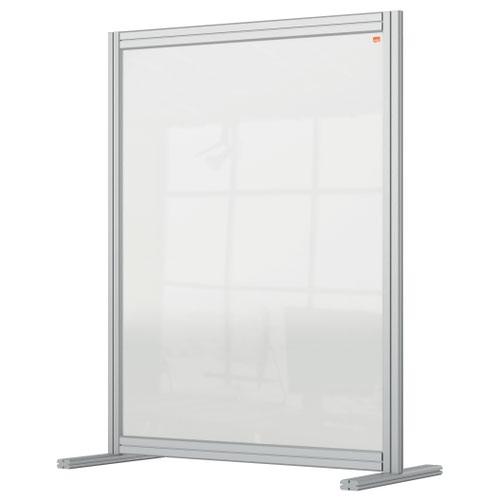 Nobo 1915492 Premium Plus Desk Divider 800x1000mm Acrylic