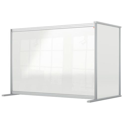 Nobo 1915495 Premium Plus Desk Divider Extender 1400x1000mm Acrylic