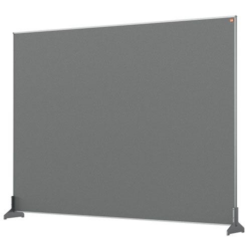 Nobo 1915500 Grey Impression Pro Desk Divider 1400x1000mm