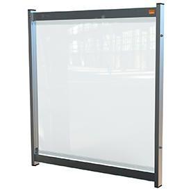 Nobo 1915550 Premium Plus Clear PVC Modular System Desk Divider Screen 750x820mm