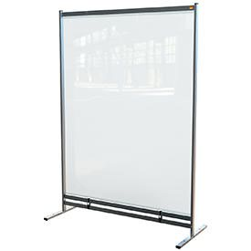 Nobo 1915553 Premium Plus Clear PVC Free Standing Protective Room Divider Screen 1480x2060mm