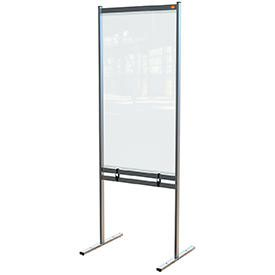 Nobo 1915558 Premium Plus Clear PVC Free Standing Protective Divider Screen 780x2060mm