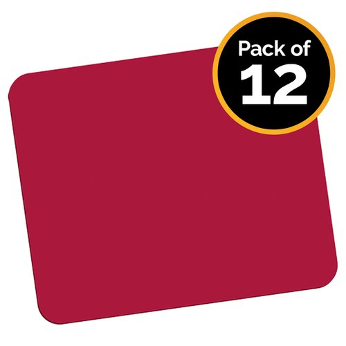 Fellowes 29701 Economy Mouse Pad Red - Pack of 12