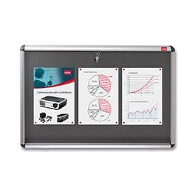 Nobo 31333500 A1 Internal Display Case with Grey Felt