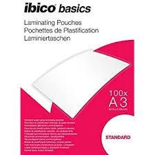 Ibico Basics A3 Standard Laminating Pouches - Pack of 100