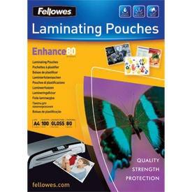 Fellowes 5306114 A4 80Mic Pouch 100pk