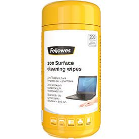 Fellowes 8562702 200 Surface Cleaning Wipes