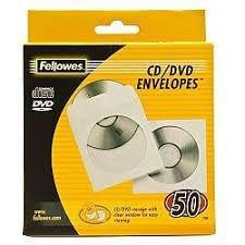 Fellowes 90690 Paper CD Envelopes 50pk