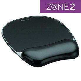 Fellowes 9112101 Crystal Gel Mousepad Wrist Support Black