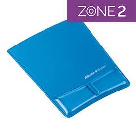 Fellowes 9182201 Crystal Mouse Pad and Wrist Support