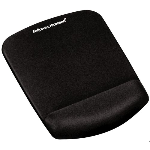 Fellowes 9252003 PlushTouch Mousepad Wrist Support Black