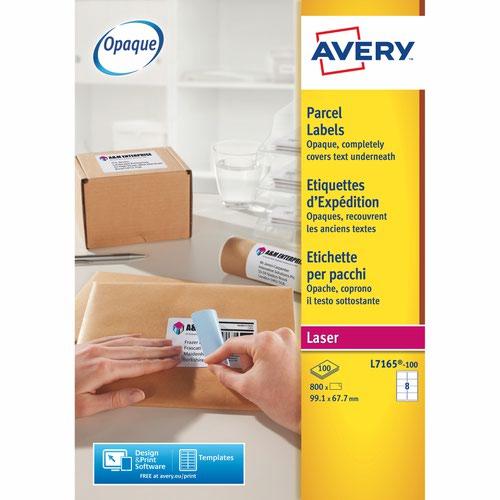 Avery L7165-100 Parcel Labels 100 sheets - 8 Labels per Sheet