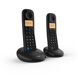 BT Everyday Twin Dect Call Blocker Telephone with Answer Machine
