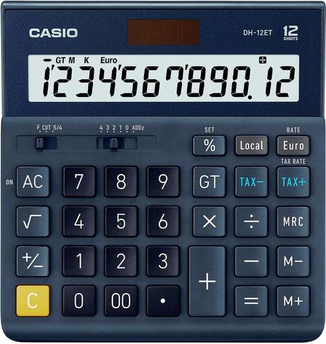 Casio DH-12ET 12 Digit Desktop Calculator